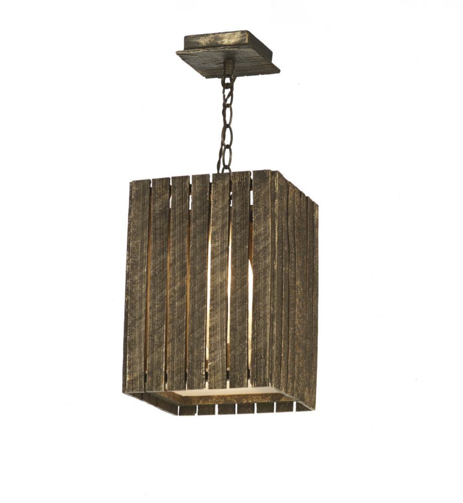 Dar Whistler 1 Light Pendant Small Gold/Cocoa WHI0131 (7-10 day Delivery) (Class 2 Double Insulated)